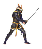 Samurais in der Rüstung Lizenzfreie Stockfotos