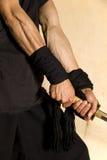 Samuraischwertfechter Lizenzfreie Stockfotos