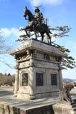 Samuraistatue in Sendai Lizenzfreies Stockbild