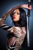 samuraj kobieta Zdjęcia Royalty Free