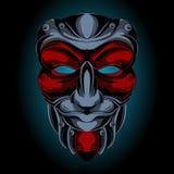 Samuraj maski uśmiechy ilustracji