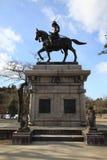 Samuraj statua w Sendai Zdjęcie Royalty Free