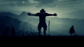 Samuraj władyka Z Pełnym opancerzenia narządzaniem Dla bitwy zbiory wideo