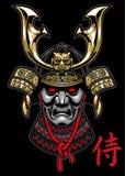 Samuraja hełm ilustracji