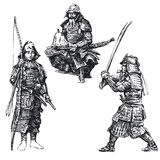 samuraja japoński wojownik Fotografia Royalty Free