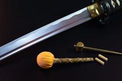 Samuraja kordzik Obraz Royalty Free