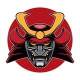 Samuraja loga Kierownicza ilustracja Zdjęcia Royalty Free