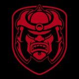 Samuraja loga projekt Zdjęcie Stock
