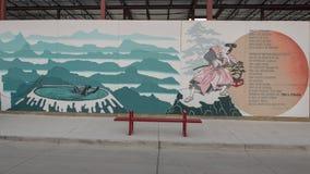 Samuraja malowidła ściennego biskupa sztuki okręg, Dallas, Teksas Fotografia Royalty Free
