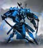 Samuraja robota wojownika projekt ?wiadczenia 3 d zdjęcie royalty free