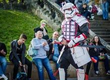 Samuraja stormtrooper cosplay Zdjęcia Royalty Free
