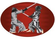 Samurajer Arkivbild