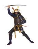 Samurajer i harnesk Royaltyfri Foto