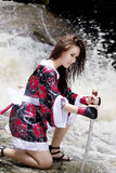 Samurajowie girl02 Zdjęcia Stock