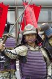 Samurajowie przy Nagoya festiwalem, Japonia fotografia royalty free