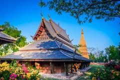 SAMUT PRAKAN, TAILÂNDIA, ABRIL, 23, 2017 - parque da cidade antiga, M.U.A. Imagem de Stock