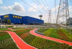 Samut Prakan, Tailandia - ABRIL 07,2019: tienda del iKEA en Bangna IKEA es el minorista m?s grande de los muebles del mundo y ven imagen de archivo libre de regalías