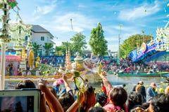 SAMUT PRAKAN, TAILANDIA 18 DE OCTUBRE DE 2013: Lotus Giving Festival Fotografía de archivo