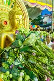 SAMUT PRAKAN THAILAND-OCTOBER 18, 2013: Lotus Giving Festival Arkivbilder