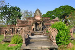 Samut Prakan, Thailand: Phimal Sanctuary. Majestic ruins of the Phimai Sanctuary from Nakorn Ratchasima at Ancient Siam Thai Heritage Park in Samut Prakan Royalty Free Stock Photos