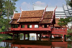 Samut Prakan, Thailand: Thai Covered Bridge Stock Photo