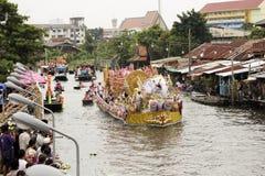 SAMUT PRAKARN, TAILÂNDIA 7 DE OUTUBRO DE 2014: Lotus Giving Festival Imagem de Stock Royalty Free