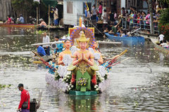 SAMUT PRAKARN, THAÏLANDE 7 OCTOBRE 2014 : Lotus Giving Festival Photo stock