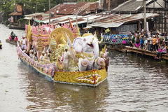 SAMUT PRAKARN, THAÏLANDE 7 OCTOBRE 2014 : Lotus Giving Festival Images libres de droits