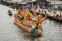 SAMUT PRAKARN, THAÏLANDE 7 OCTOBRE 2014 : Lotus Giving Festival Image stock