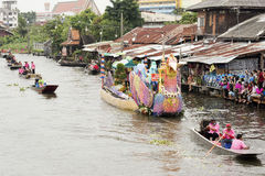 SAMUT PRAKARN, THAILAND-OC TOBER 7, 2014 : Lotus Giving Festiva Images libres de droits