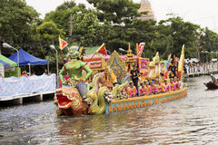 SAMUT PRAKARN, THAILAND-OC TOBER 7, 2014 : Lotus Giving Festiva Image libre de droits