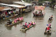SAMUT PRAKARN, THAILAND-OCTOBER 7, 2014: Lotus Giving Festival Arkivbilder