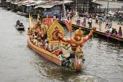 SAMUT PRAKARN, THAILAND-OCTOBER 7, 2014: Lotus Giving Festival Fotografering för Bildbyråer