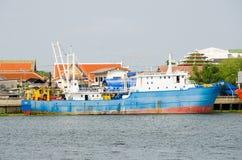 Samut Sakhon, Thailand : Cargo ship Stock Image