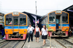 Samut Sakhon, Thailand : Mahachai railway station Stock Image