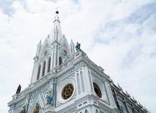 Samut Songkhram, Ταϊλάνδη - 1 Σεπτεμβρίου 2016: Το Nativity της κυρίας μας, καθεδρικός ναός είναι ένα όμορφο γ Στοκ εικόνα με δικαίωμα ελεύθερης χρήσης