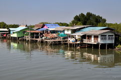 Samut Songkhram: Fishing Village Houses Royalty Free Stock Image