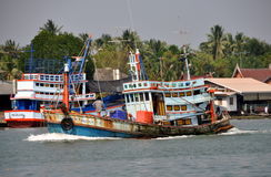 Samut Songkhram, Thailand: Fishing Boast Stock Image
