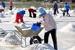 Samut Songkhram, Thailand: Harvesting Sea Salt Stock Images