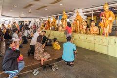 Tourist Buddhists praying Buddha image for blessing Stock Image