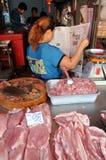 Samut Songkhram, Thailand: Railway Market Stock Photography