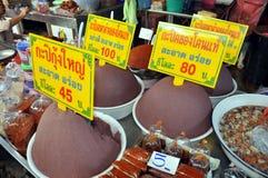 Samut Songkhram, Thailand: Railway Market Foods Stock Images