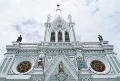 Samut Songkhram, Thailand - 1 September 2016: De Geboorte van Christus van Onze Dame, Kathedraal is mooi c Royalty-vrije Stock Afbeelding