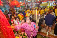 SAMUTSAKHON,THAILAND-MAY 31 : Unidentified people worship during Stock Photography