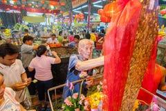 SAMUTSAKHON,THAILAND-MAY 31 : Unidentified people worship during Royalty Free Stock Image