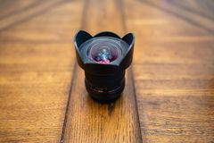 Samyang 14mm brede hoeklens royalty-vrije stock foto's
