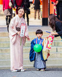 San świętowanie przy Ikuta Jinja, Kobe - Zdjęcie Royalty Free