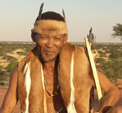 San. D man from kalahari desert in Namibia Royalty Free Stock Photography