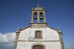 San Adrian Chapel, Malpica; Fisterra; Costa de la Muerte; Galici Lizenzfreie Stockfotos