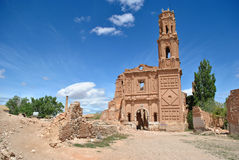 San Agustin Church in Belchite Royalty Free Stock Photography
